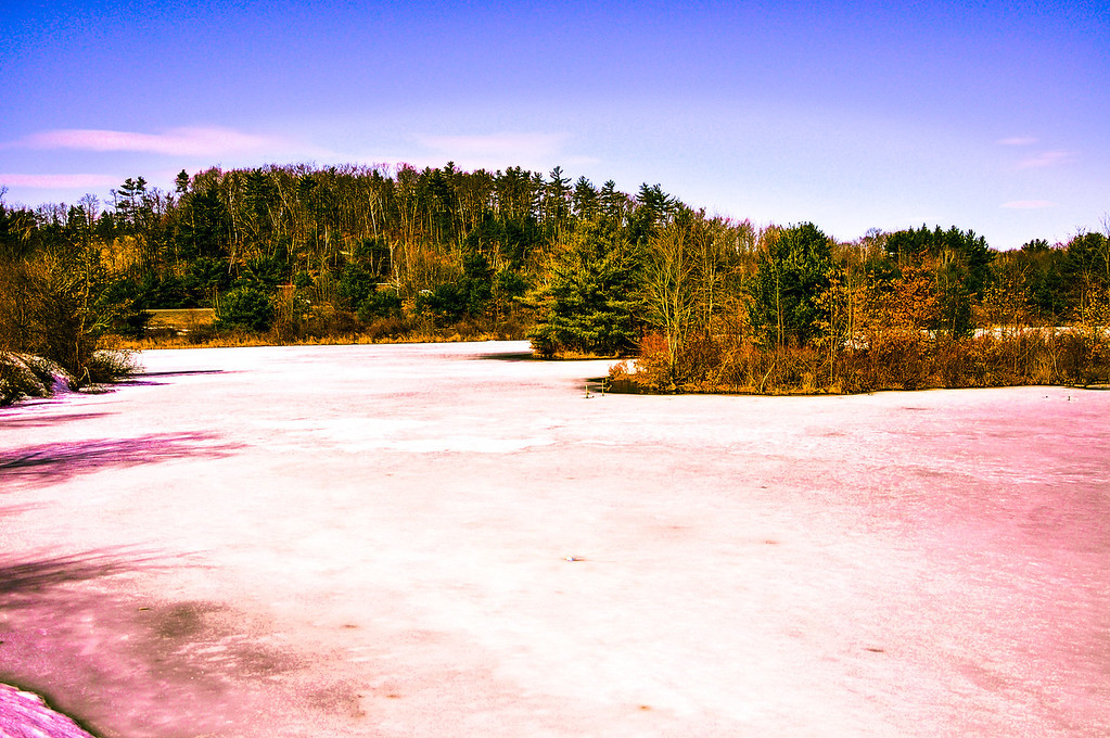 """'On Frozen Pond', from """"HDR Photography, SeasonalEffectsLandscapes"""""""